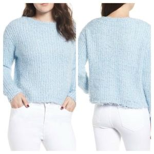 Love by Design Eyelash Chenille Distressed Sweater